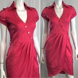 Caché Pink Shirt Dress